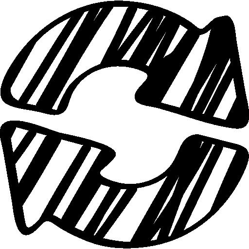 Sketched Circular Arrows Symbol Icons Free Download