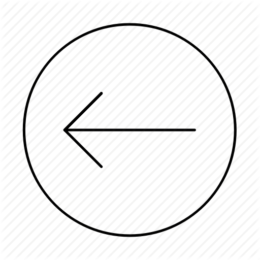 Across, Arrow Left, Circle, Direction, Left, Previous, Turn Left Icon