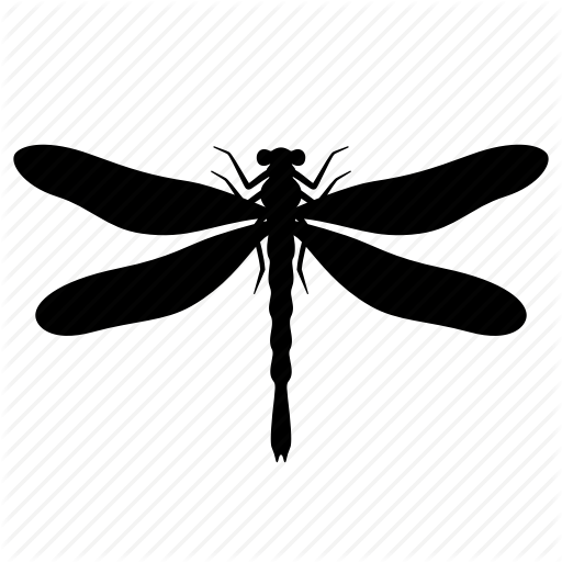 Animal, Bug, Dragonfly, Flying, Insect, Nature, Silhouette Icon