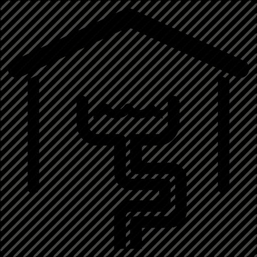 Drain, Drainage, House, Pipe, Piping, Plumbing, Sewage Icon