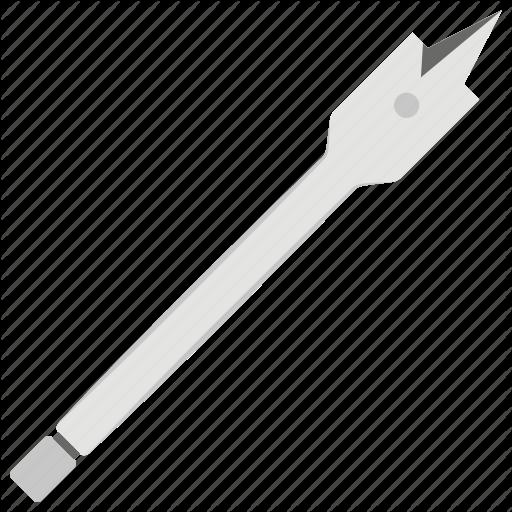 Drill, Drilling Bit, Milling, Spade Bit, Tool Icon