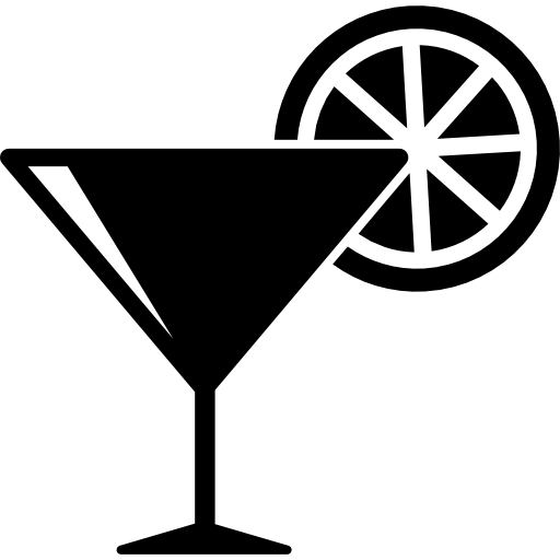 Cocktail Glass With Lemon Slice