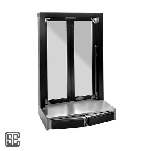 Drive Thru Window With Stainless Steel Countertop Cse Qs Bpsc