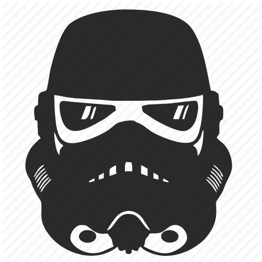 Android, Droid, Helmet, Star, Wars Icon