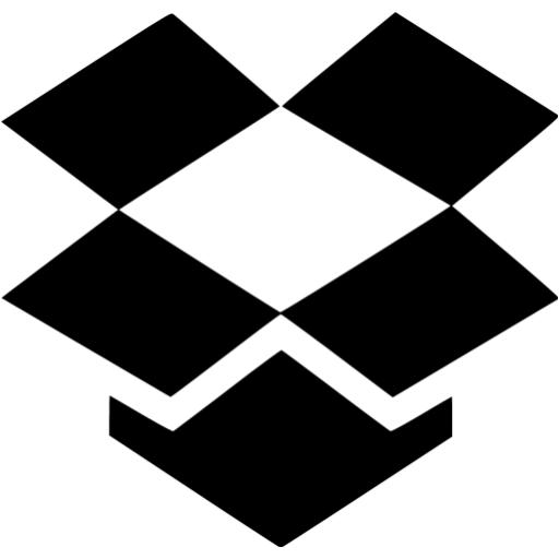 Black Dropbox Icon