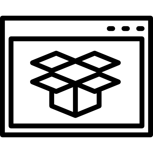 Dropbox In Browser Variant Inside Circle