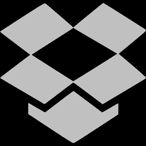 Silver Dropbox Icon