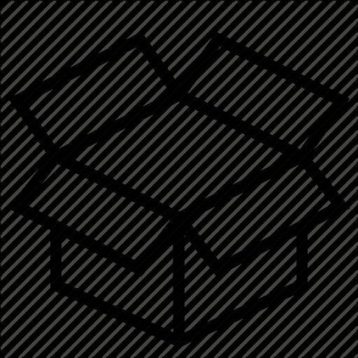 Box, Dropbox, Shipping Icon