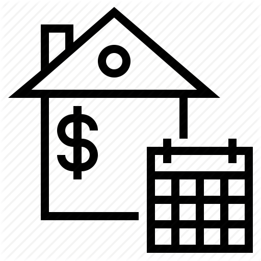 House Payment, Mortgage, Mortgage Due Date, Payment Due Date Icon