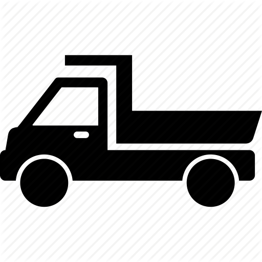 Dump Truck, Pickup Truck, Transport, Truck, Vehicle Icon