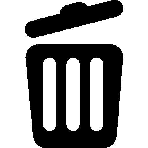Rubbish Flat Black Icon