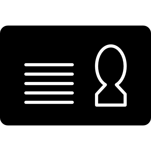 Personal Identification Card Variant With White Details Icons