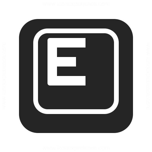 Keyboard Key E Icon Iconexperience