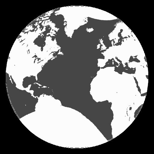 Earth Grunge Icon
