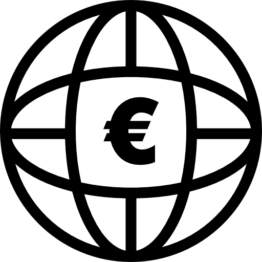 Earth Grid With Euro Sign Icons Free Download