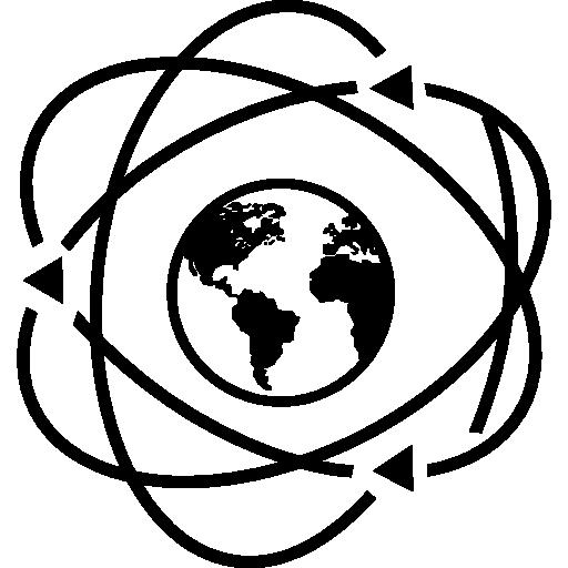 Earth In Atom Symbol