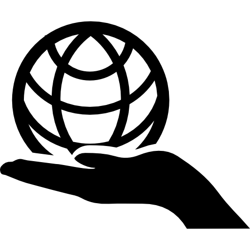 Globe On Hand Icons Free Download