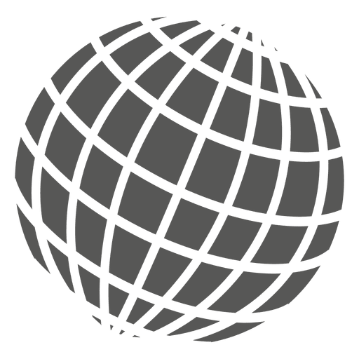 Grid On Globe Icon