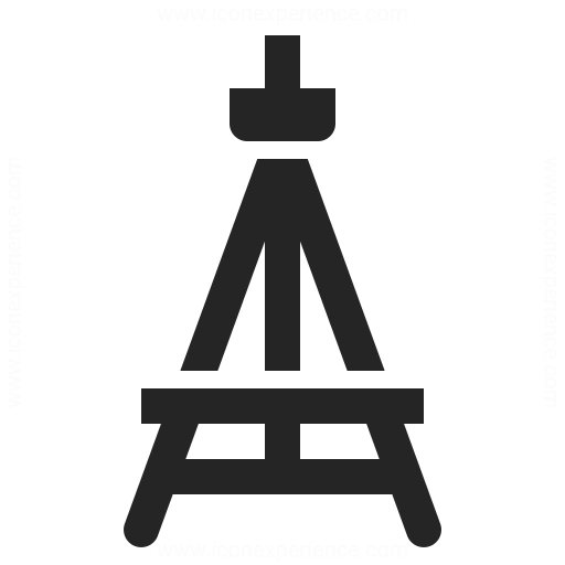 Easel Empty Icon Iconexperience