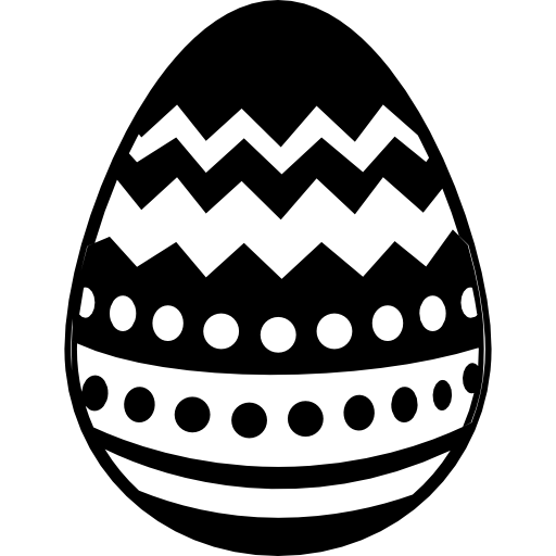Easter Egg With Different Lines Design Icons Free Download