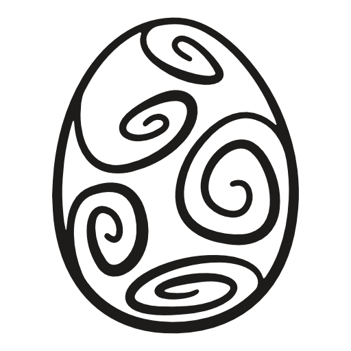 Decorated, Egg, Easter Icon Free Of Easter Curvy