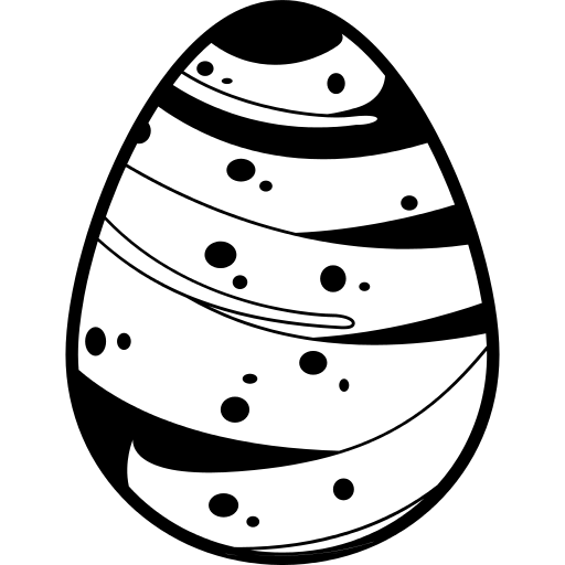 Easter Egg With A Line Covering Almost All Its Surface Png Icon