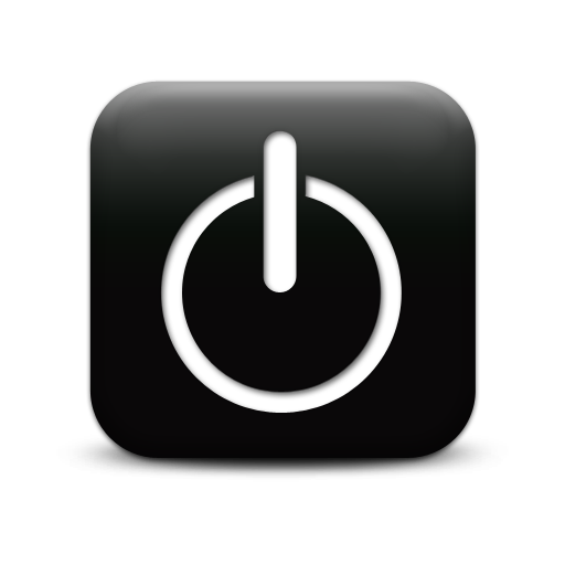 Black Rectangle Button Icon Images