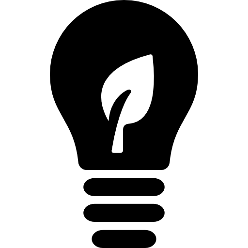 Ecological Lightbulb Symbol Icons Free Download