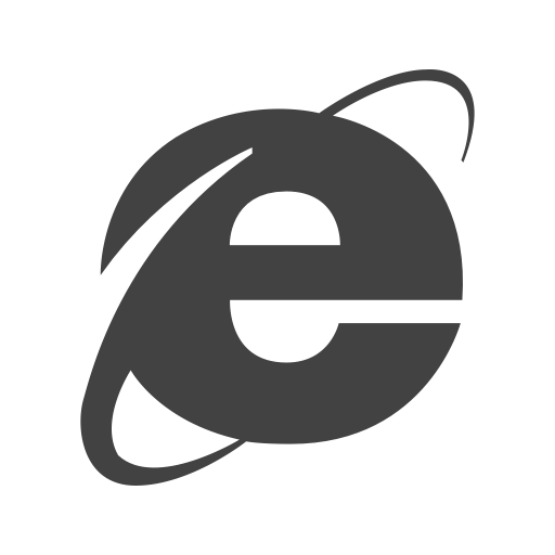 Social Media Browser Glyph Icon