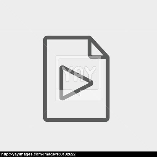 Folded Edge With Arrow Thin Line Icon Vector
