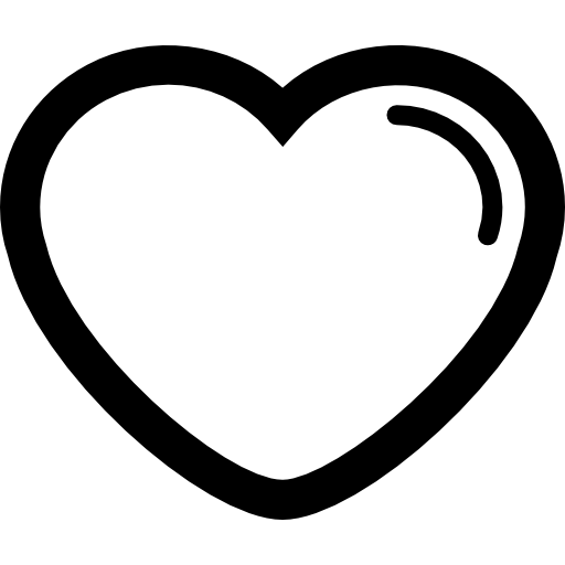 Heart Shape Outline With Lining