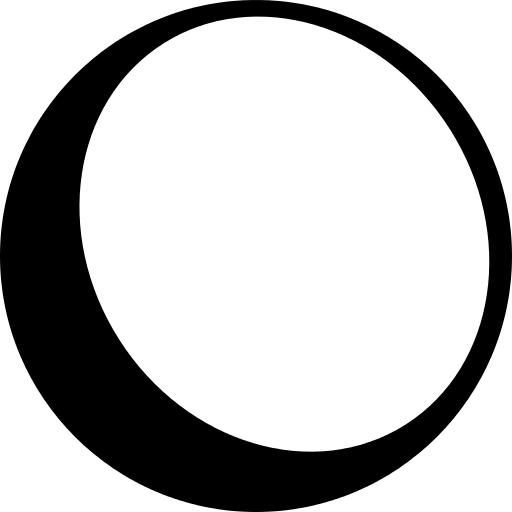 Ball Outline With Shadow At The Edge Png Icon