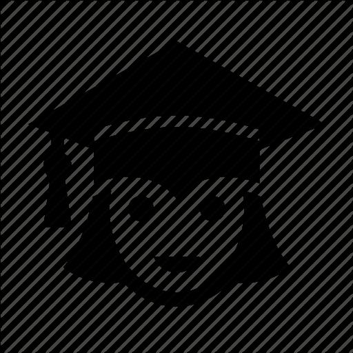 Education, Girl, Graduation, Graduation Cap, Student, Woman Icon
