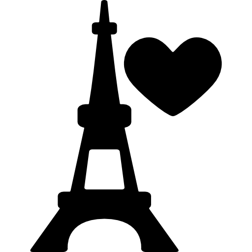 Eiffel Tower With Heart Icons Free Download
