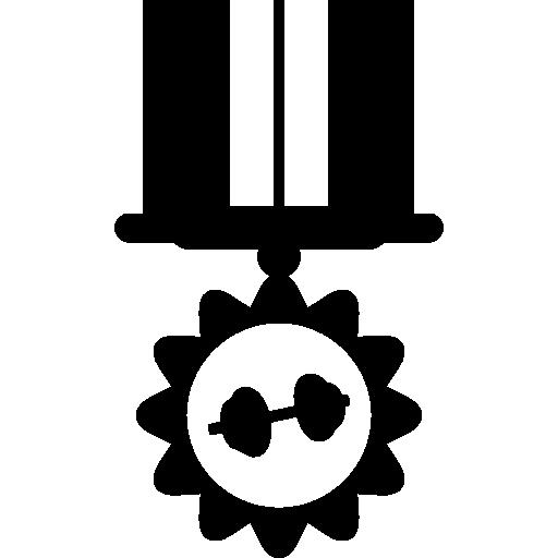 Medal Hanging Of An Elegant Ribbon Icons Free Download