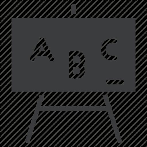 Abc, Board, Class, Classroom, Elementary, English, School Icon