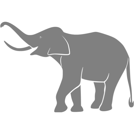 Gray Elephant Icon