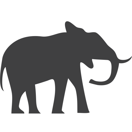 Endangered, Elephant Icon