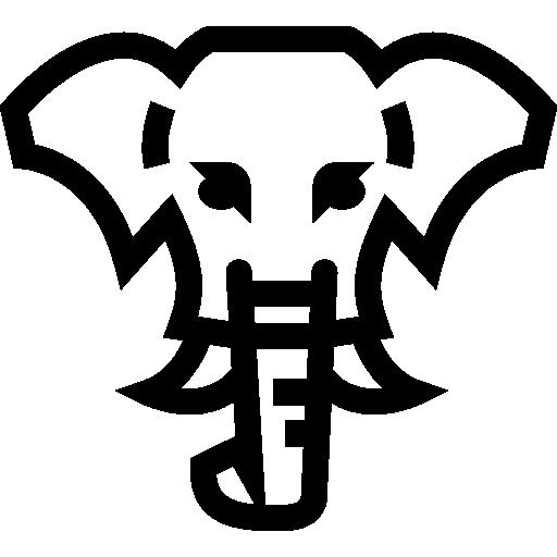 Elephant Frontal Head Outline