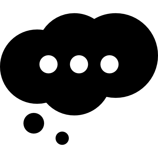 Cloud Speech Bubble With Ellipsis Icons Free Download