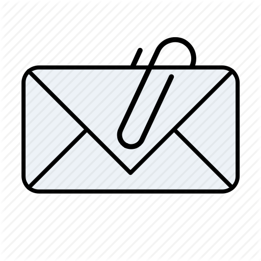 Attachment, Email, Email Attachment Icon
