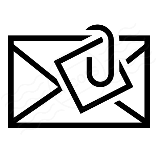 Iconexperience I Collection Mail Attachment Icon