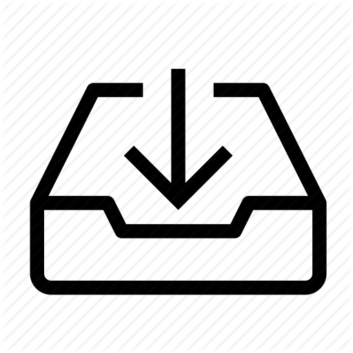 Arrow, Box, Email, Inbox, Income, Mail, Message Icon