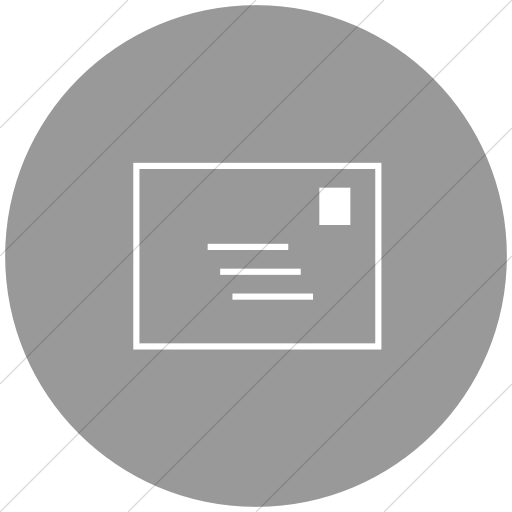 Flat Circle White On Light Gray Classica Email Icon