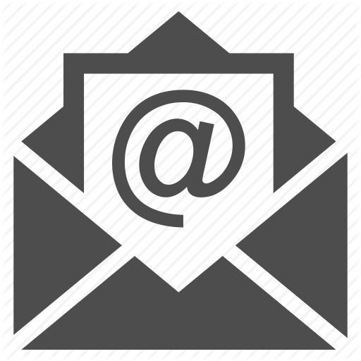 Email Icon Black And White Simple Logo Image