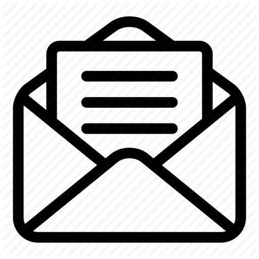 Email Icon Black And White