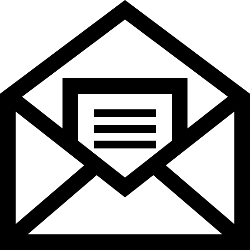 Mail Open Symbol Of An Envelope With A Letter Inside Icons Free