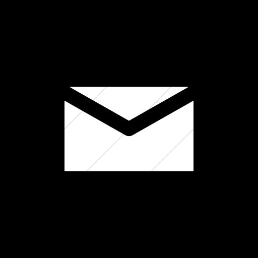 Flat Circle White On Black Raphael Mail Icon