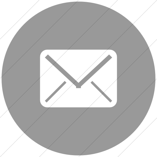 Flat Circle White On Light Gray Broccolidry Email Icon