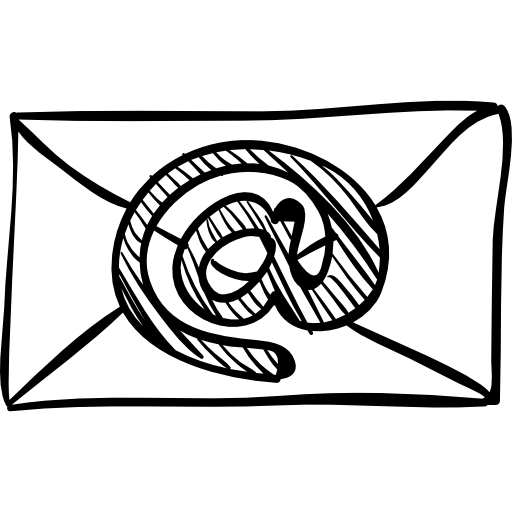 Email Sketched Envelope With Arroba Sign